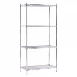 4 Tier Wire Display Unit - Chrome