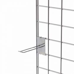 203mm Euro Hook To Fit Mesh Grid  - Chrome