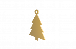 Xmas Tree Gold Decoration