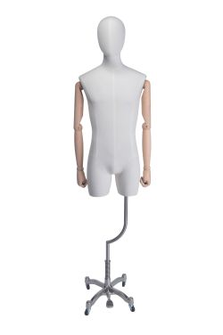 Male 3/4 Torso Tailors Dummy with articulated arms