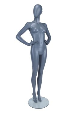 Female Mannequin both hands on hips - Matt Grey