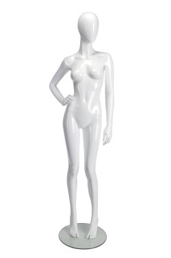 Female Mannequin Hand on right hip - White Glossy