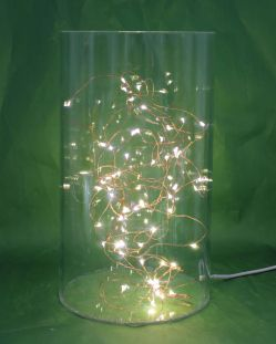 Christmas Copper Wire Lights Inside Acrylic Tube