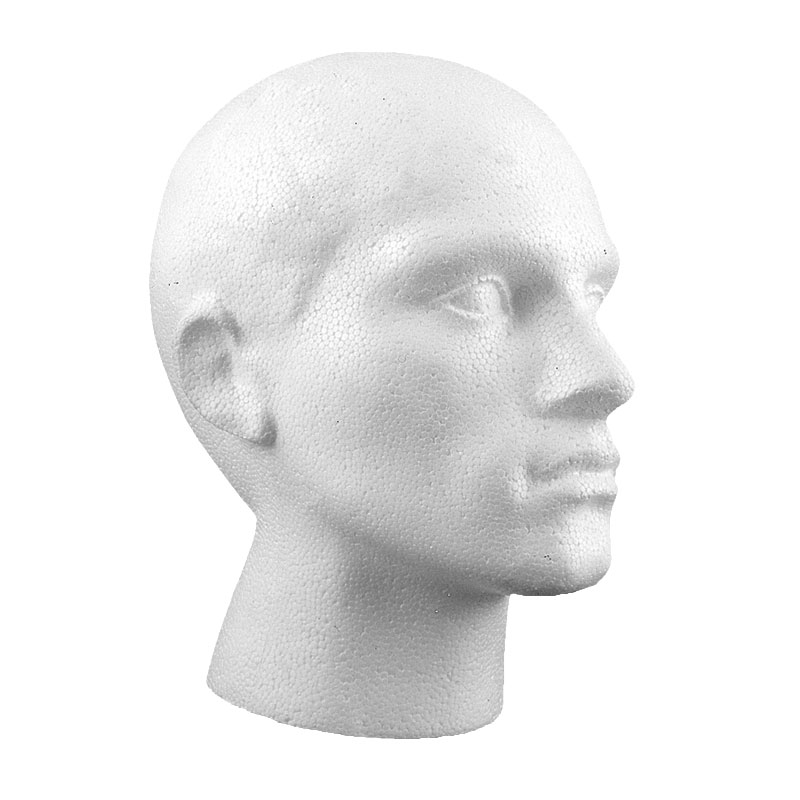 MM1-S - POLYSTYRENE MALE HEAD SMOOTH BASE
