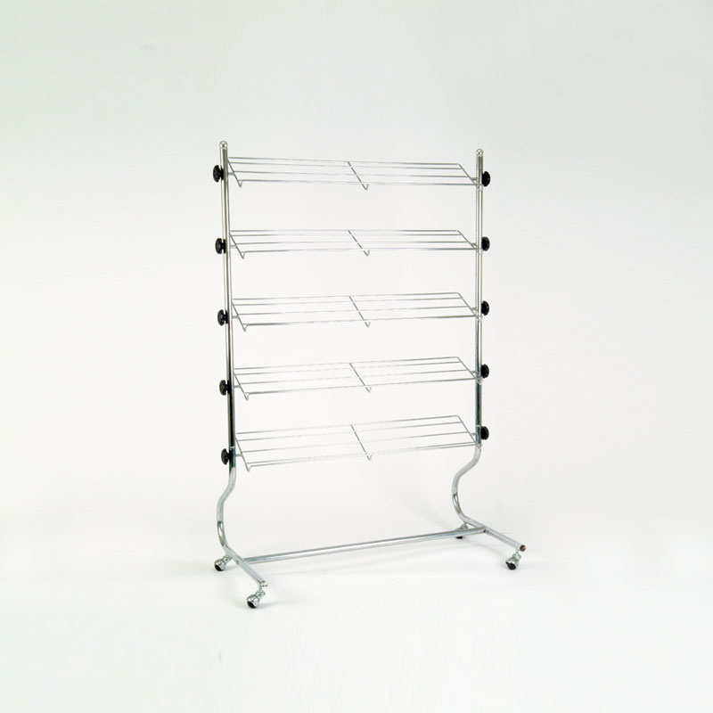 FF-43C - 5 TIER METAL SHOE STAND CHROME