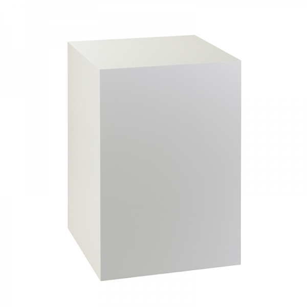 WHITE ACRYLIC DISPLAY PLINTH - MEDIUM