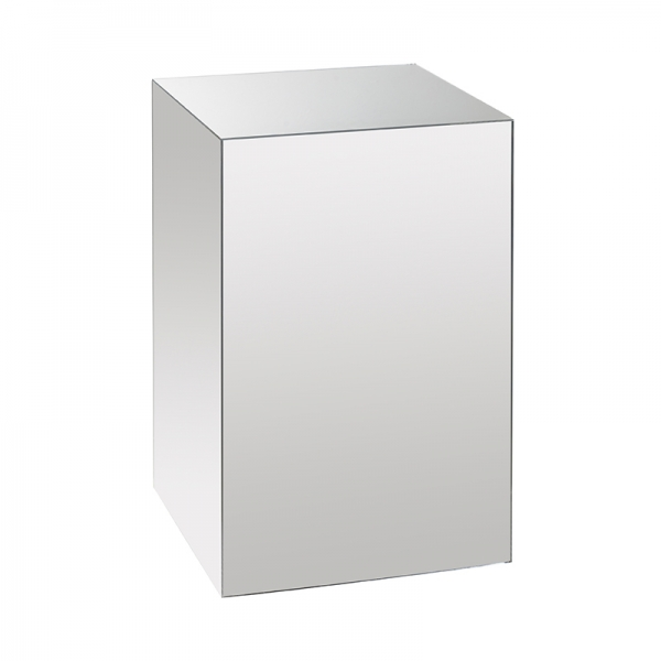 MIRROR ACRYLIC DISPLAY PLINTH - MEDIUM
