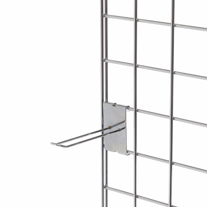 100mm Euro Hook To Fit Mesh Grid  - Chrome