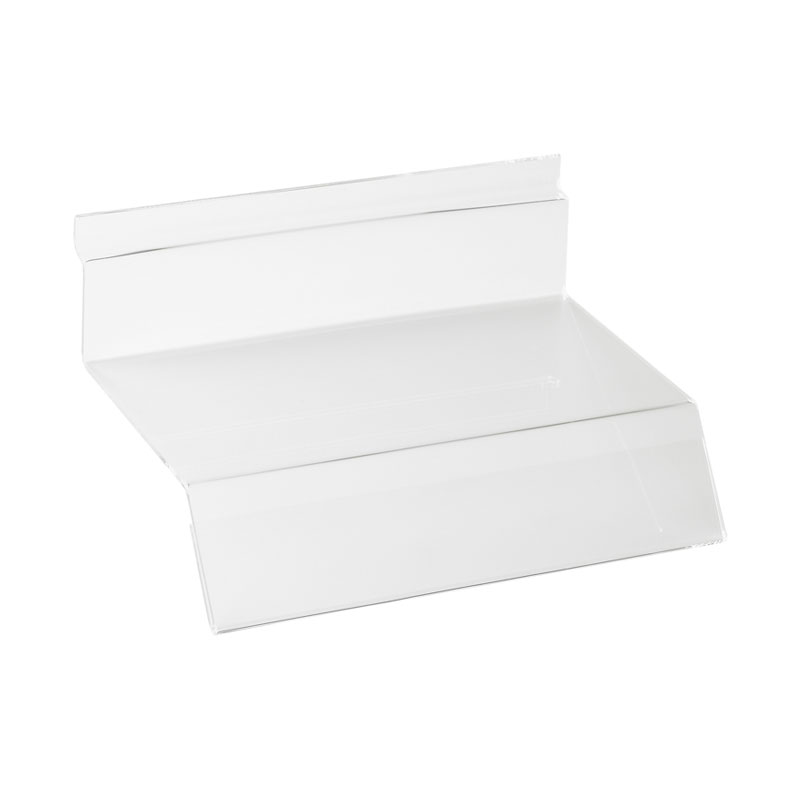 HB1002031 - Shoe Shelf With Sloping Ticket Strip - Slatwall