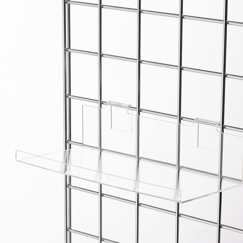 HB1003013 - Acrylic Shoe Shelf With Lip To Fit Mesh Wall