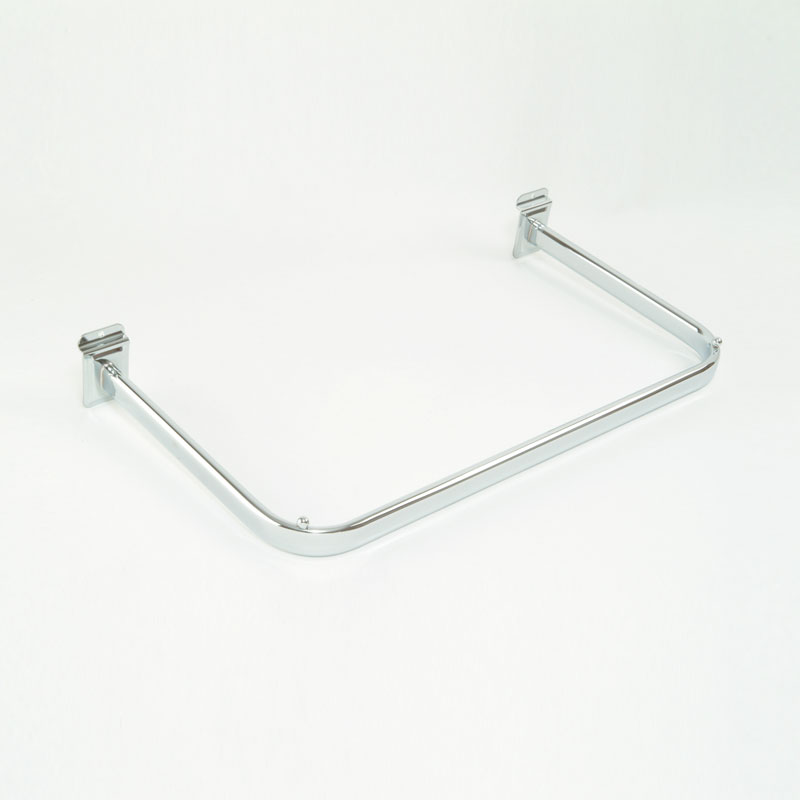 FF-20C - SHAPED HANGING RAIL - CHROME