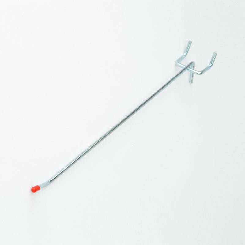 PB111Z - 100mm Light Duty Single Pegboard Hook - Zinc Plated