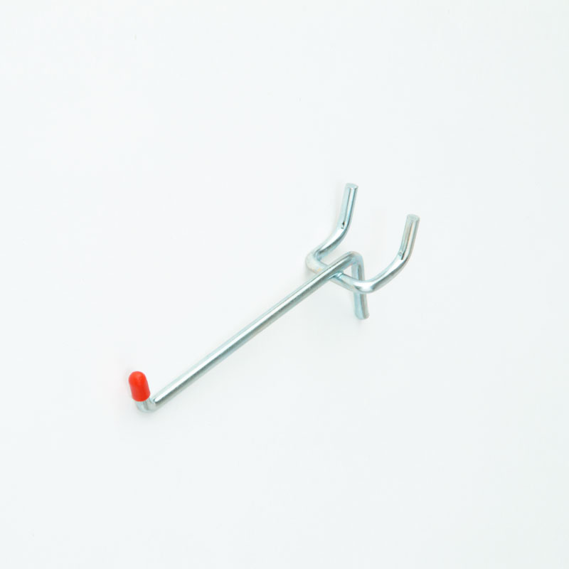 HB1003826 - 50mm Single Pegboard Hook - Light Duty Zinc Plated