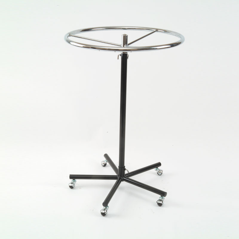 HB1001620 - Adjustable Ring Stand - Black & Chrome