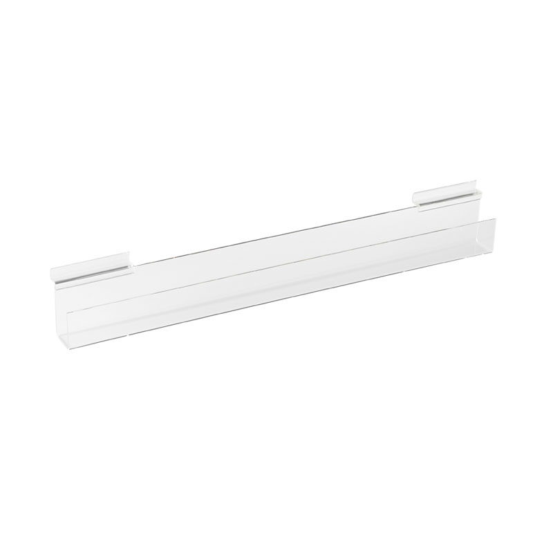 HB1002010 - Acrylic Card Display Shelf For Slatted Wall