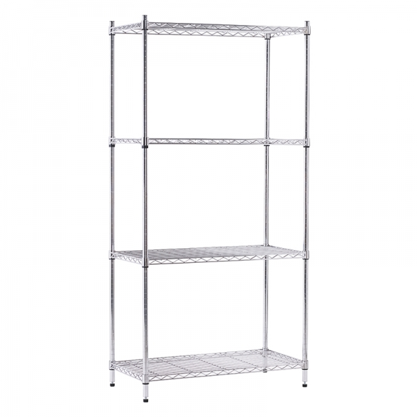 HB1000100 - 4 Tier Wire Display Unit - Chrome