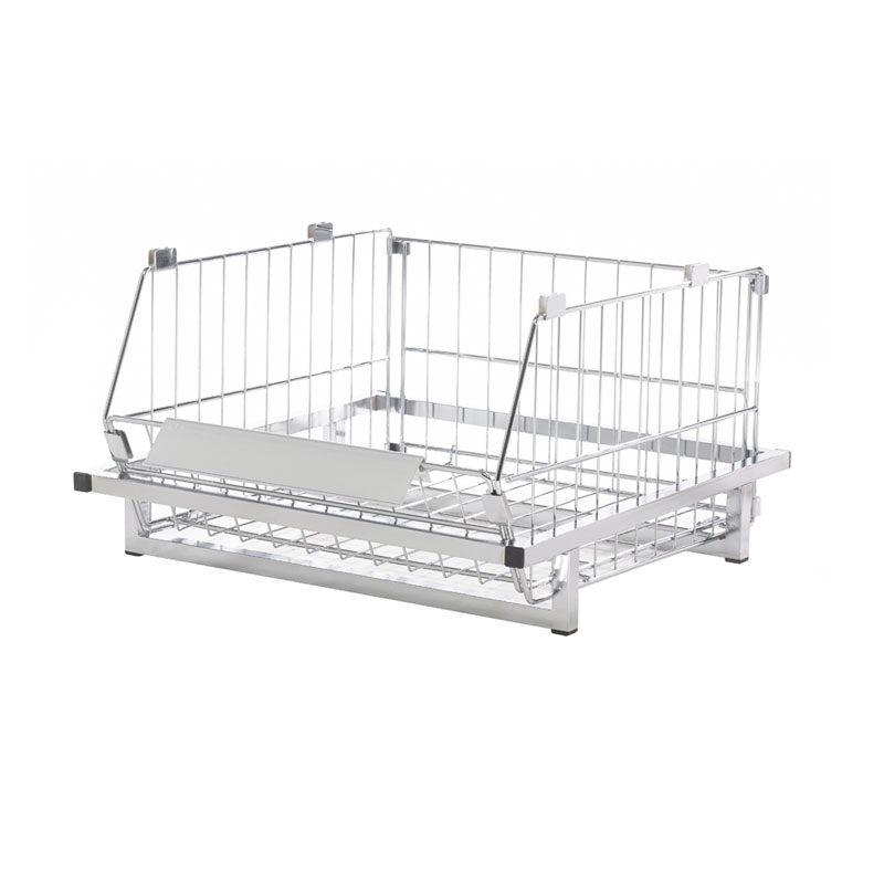 980Mm Basket Plynth Without Castors  - Chrome