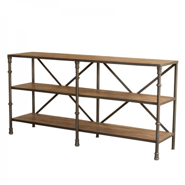 VF100 - SHELVING UNIT WITH STEEL POSTS