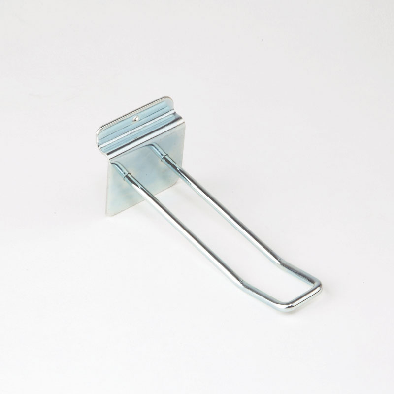 HB1001519 - 100mm Slatwall Euro Hook - Heavy Duty Chrome
