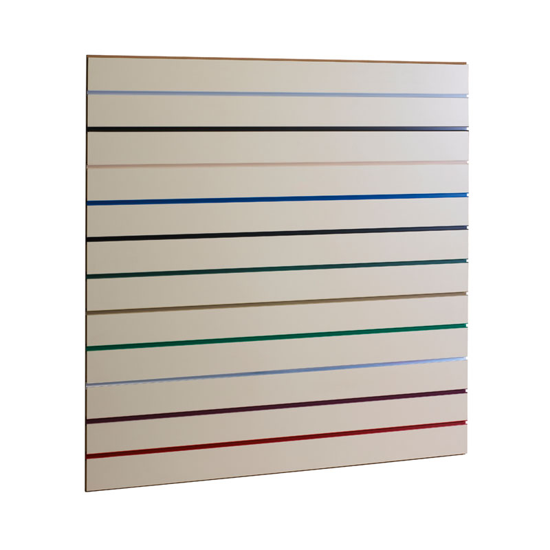 1200X1200MM WHITE SLATWALL PANEL