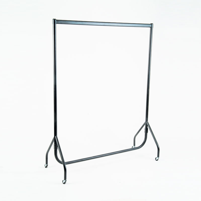 "6FT (72"") GARMENT RAIL - BLACK"