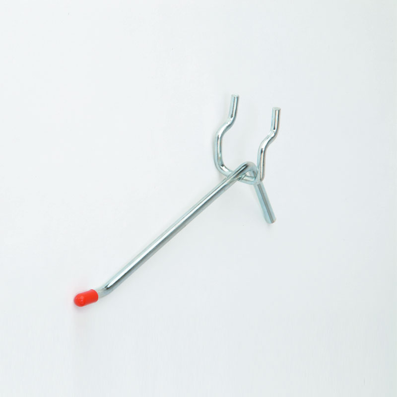 152MM LIGHT DUTY SINGLE PEGBOARD HOOK - ZINC PLATED