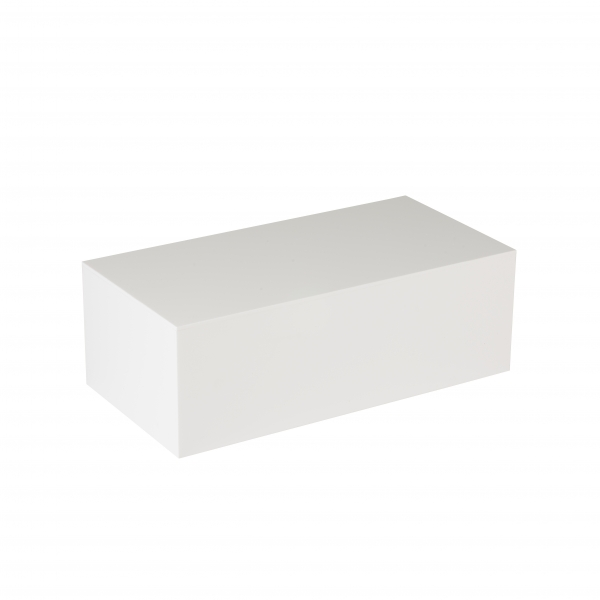 PF1W - WHITE FOOTWEAR DISPLAY PLINTH - LARGE