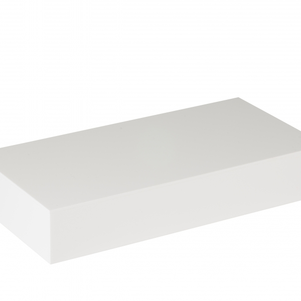 WHITE FOOTWEAR DISPLAY PLINTH - SMALL