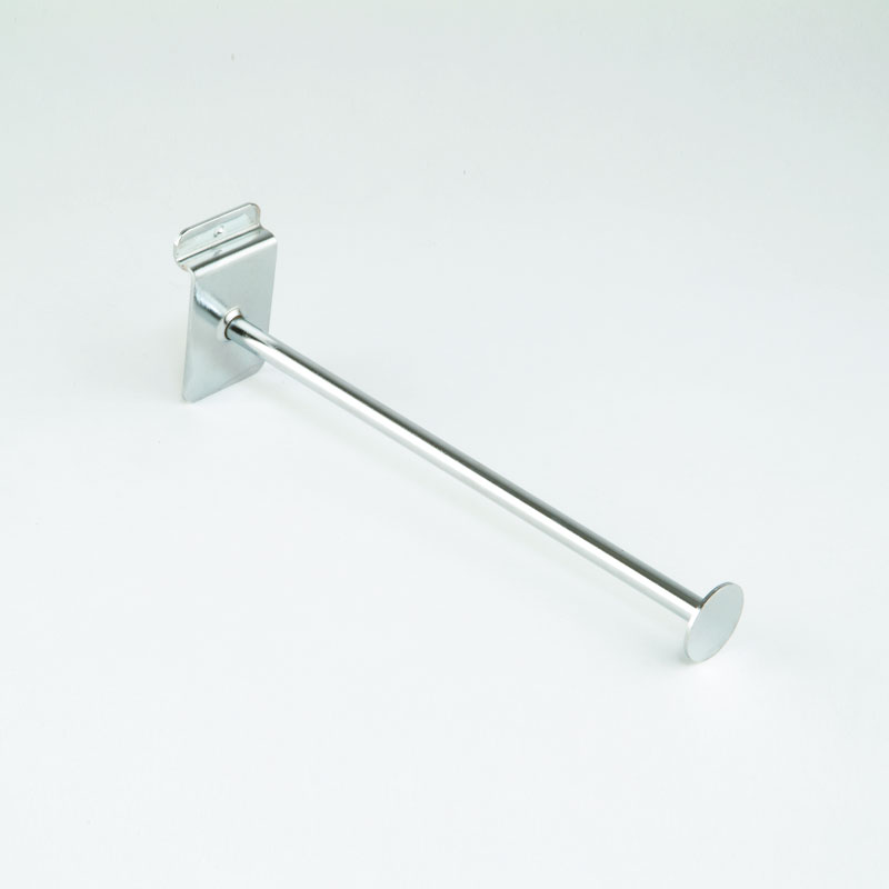 HB1004235 - Straight Arm With Disc 457mm For Slat Wall - Chrome