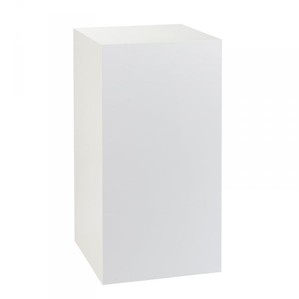 P1W - White Acrylic Display Plinth - Large