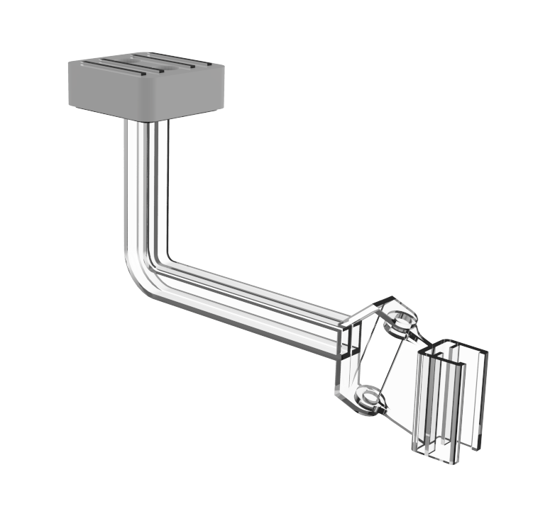 Magnetic arm with hinged frame holder
