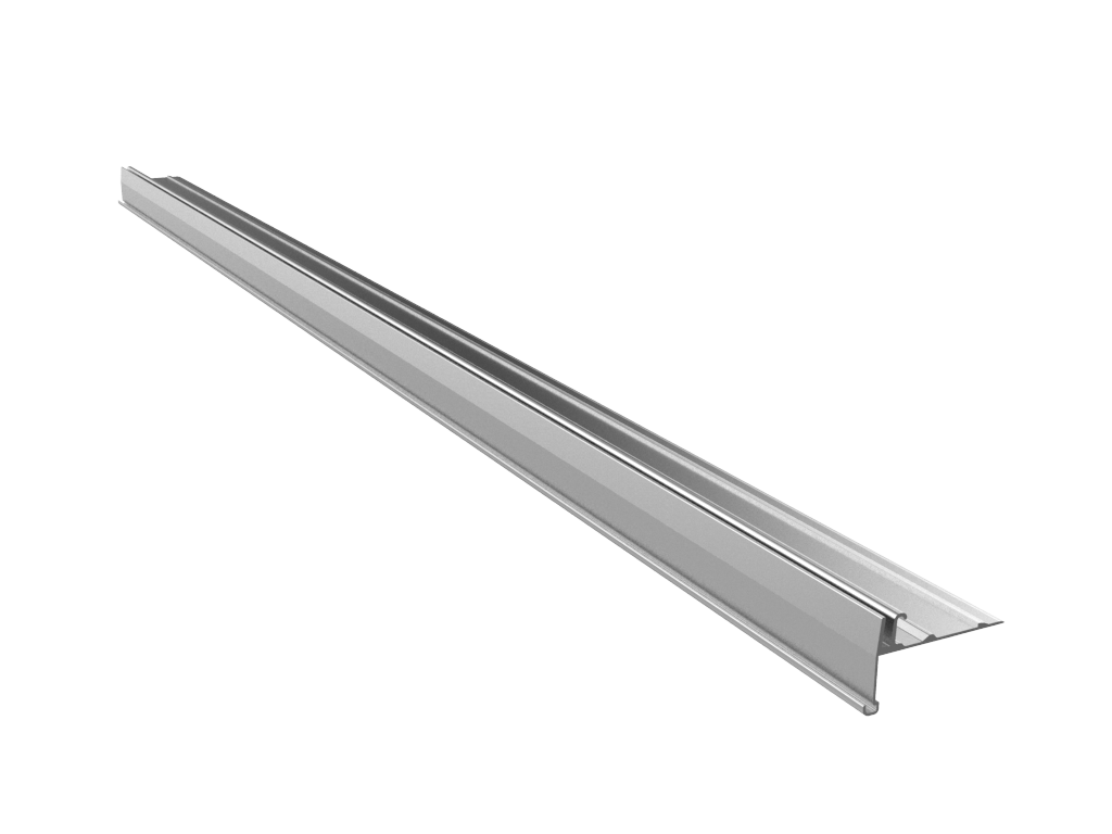 Aluminium Front Rail WITH Slot for PMMA Retainer