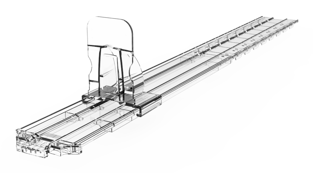 Pusher (with breakable snap track 285 to 485mm deep)