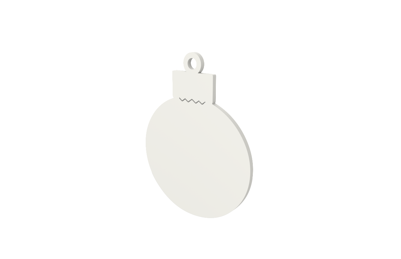 Xmas Bauble White Decoration