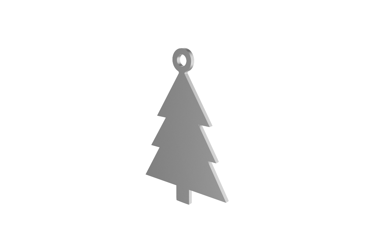 Xmas Tree Silver Decoration
