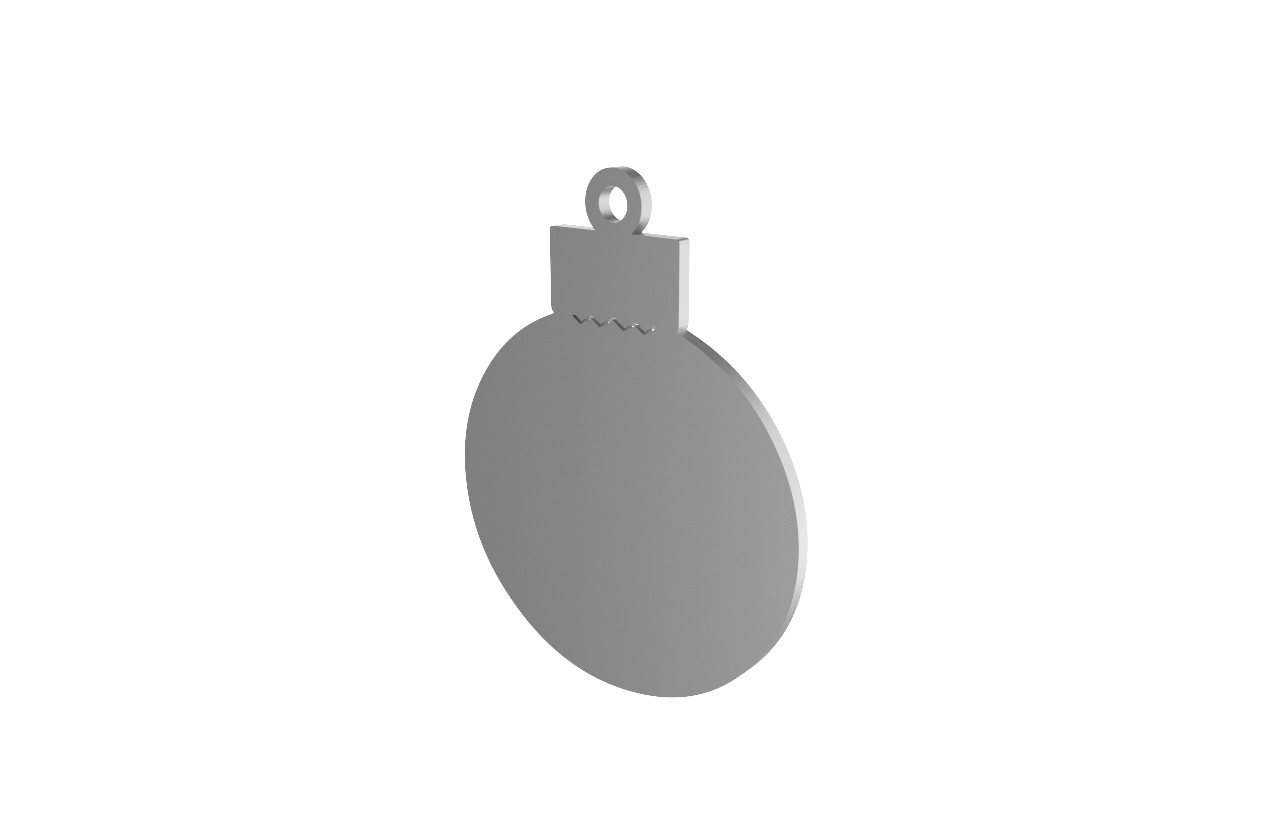 HBOC-BS - Xmas Bauble Silver Decoration