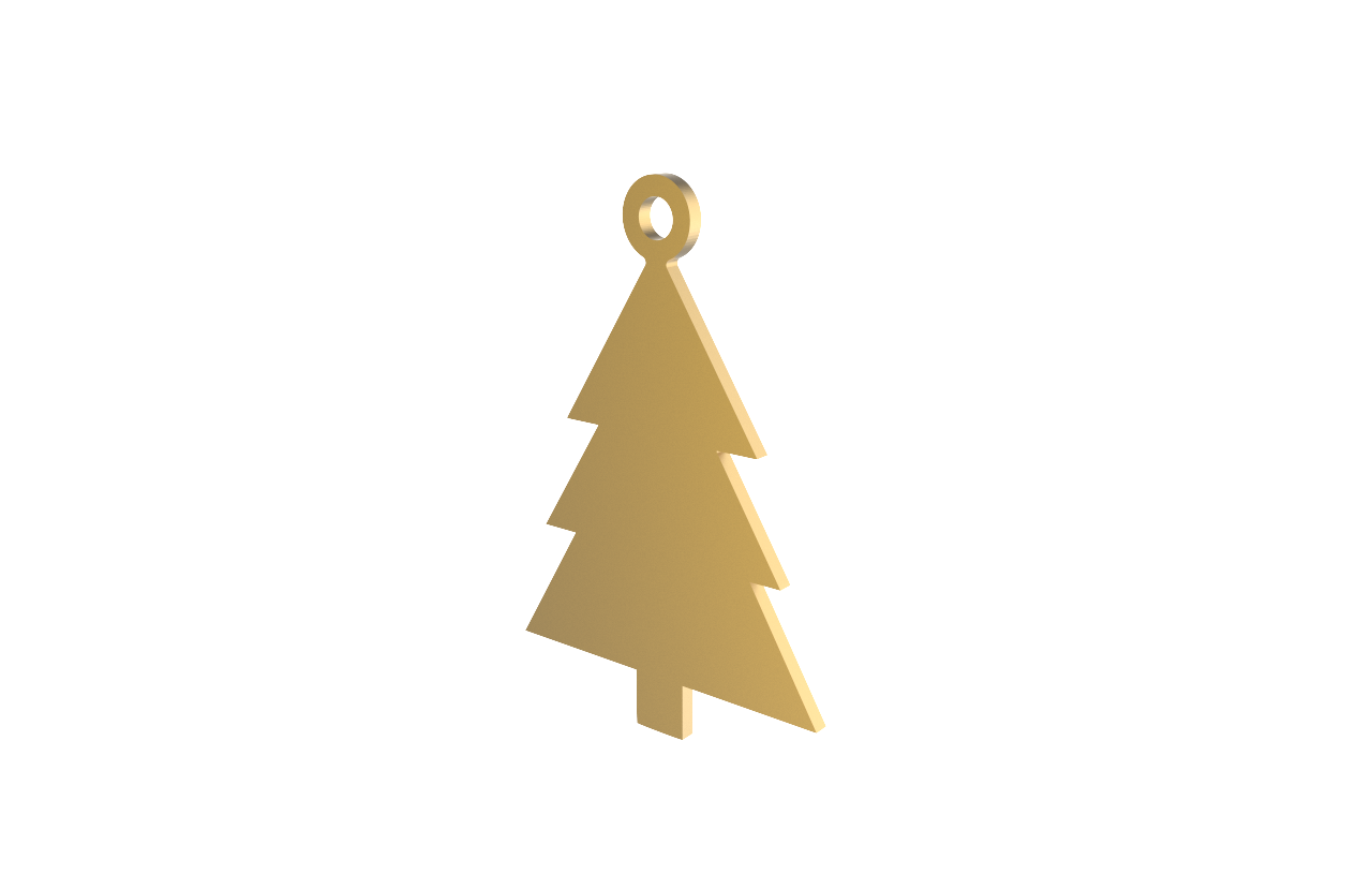 HB1002213 - Xmas Tree Gold Decoration