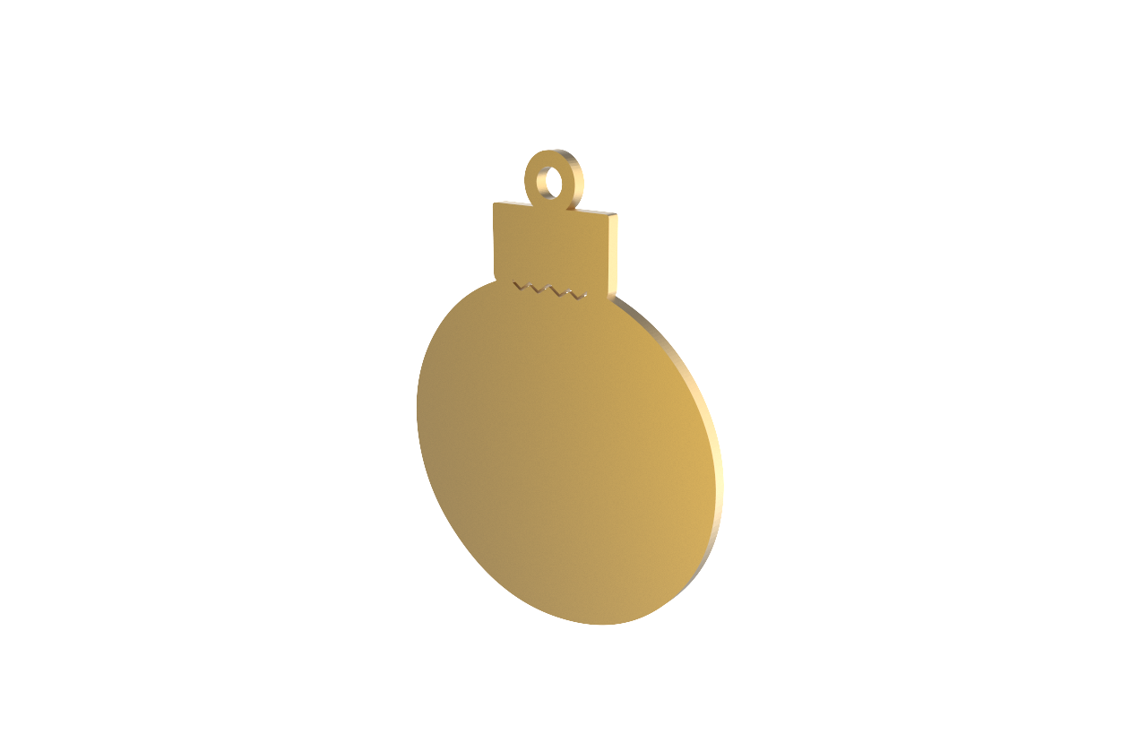 Xmas Bauble Gold Decoration