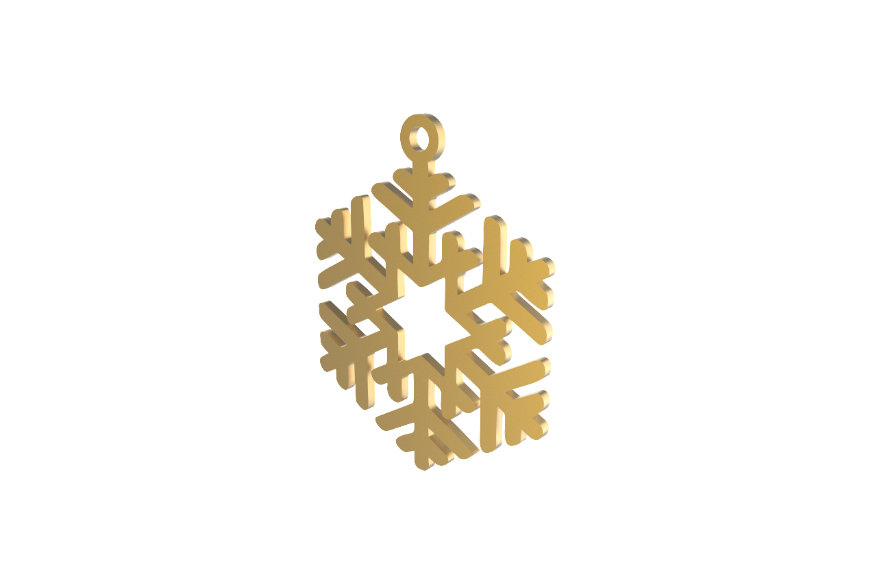 Xmas Snow Flake Gold Decoration