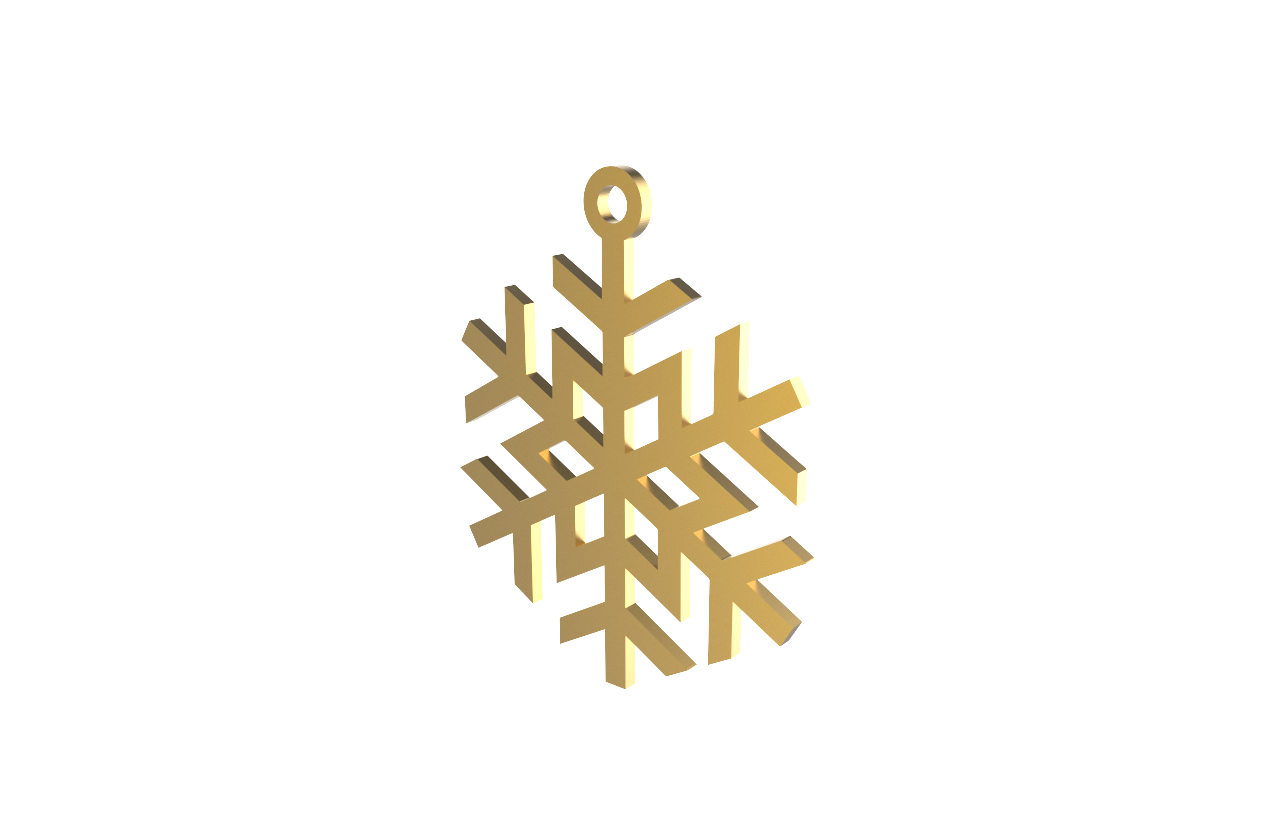 Xmas Snow Flake (Star) Gold Decoration