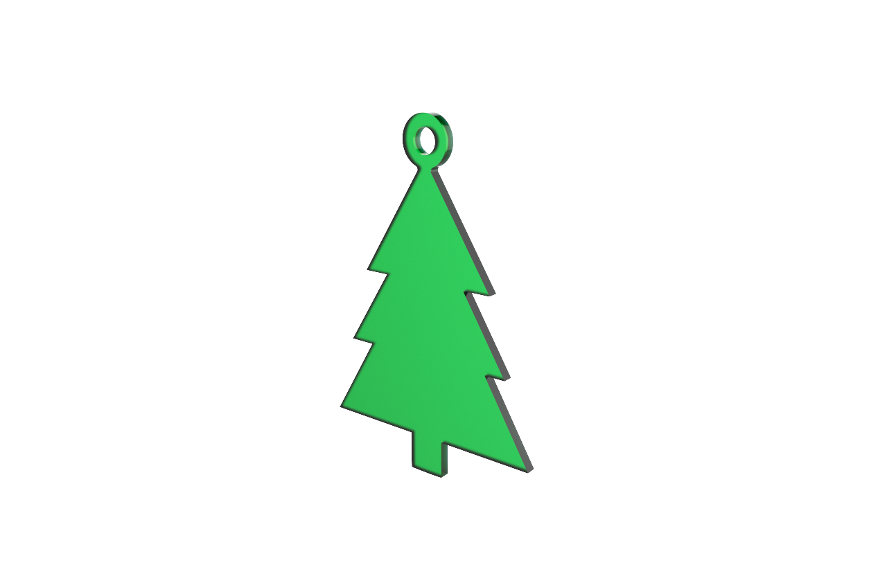 Xmas Tree Green Decoration