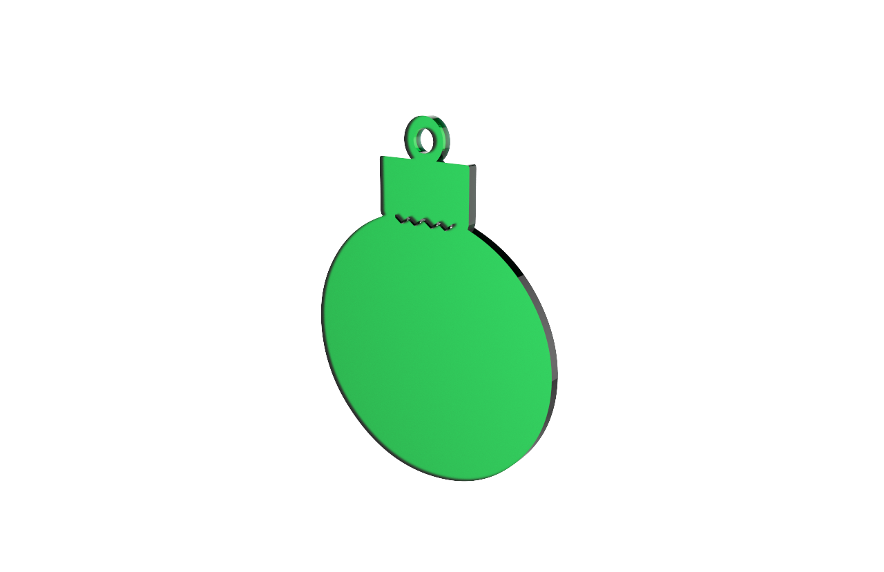 Xmas Bauble Green Decoration
