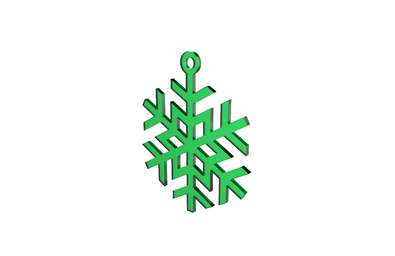 Xmas Snow Flake (Star) Green Decoration