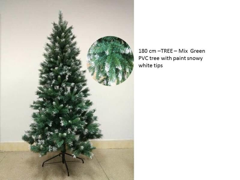HB1002190 - Christmas Tree with Snowy White Tips 180cm
