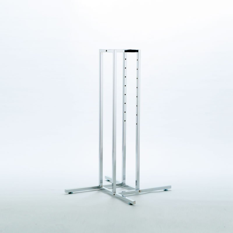 HB1001610 - 4 WAY Clothing Display Rail (BASE FRAME ONLY) - Chrome