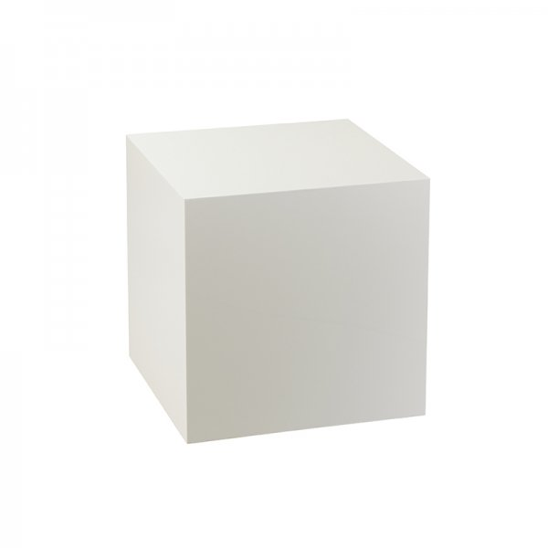 White Acrylic Display Cube - Small