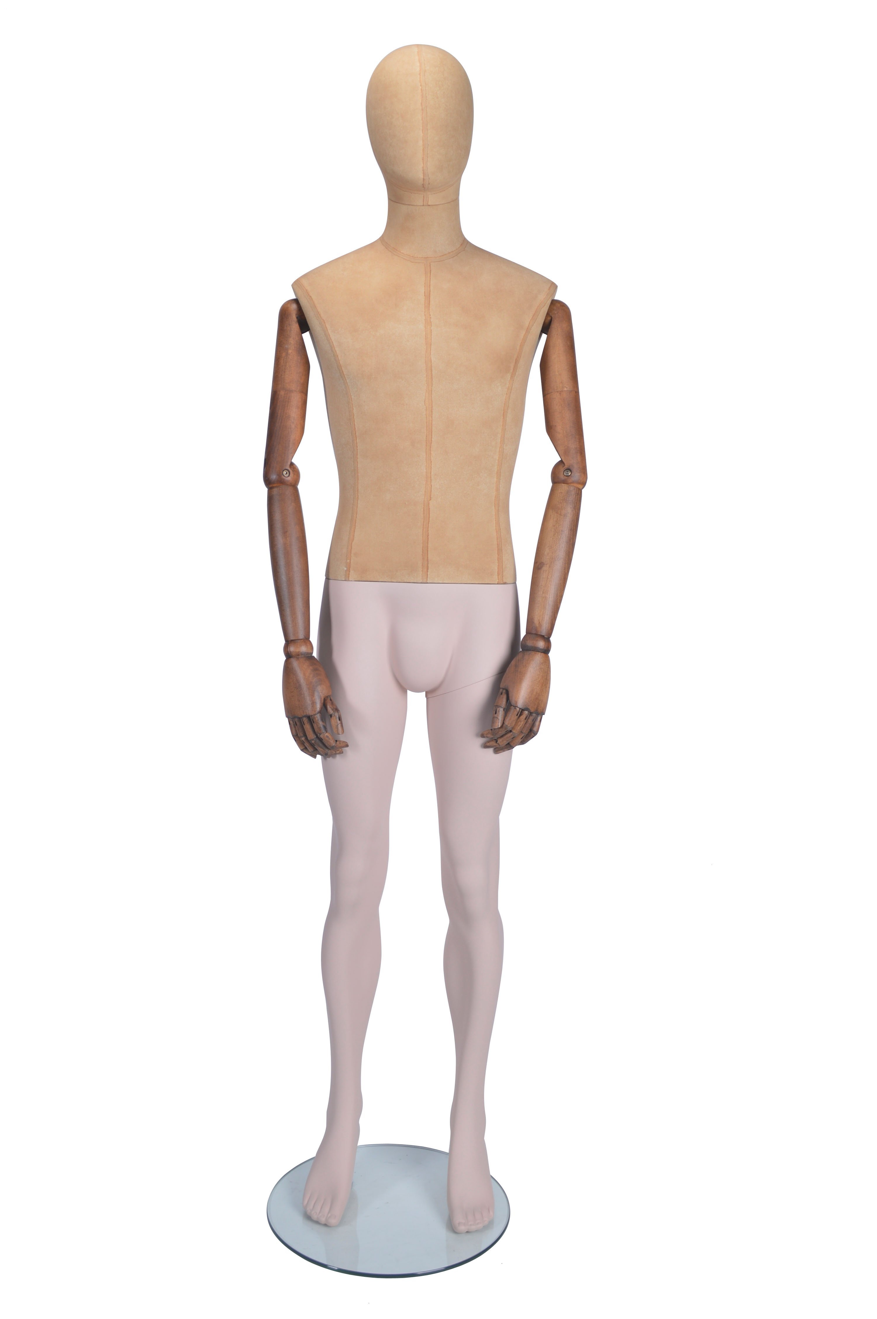 Standing Male Mannequin - Moveable Arms (Straight)
