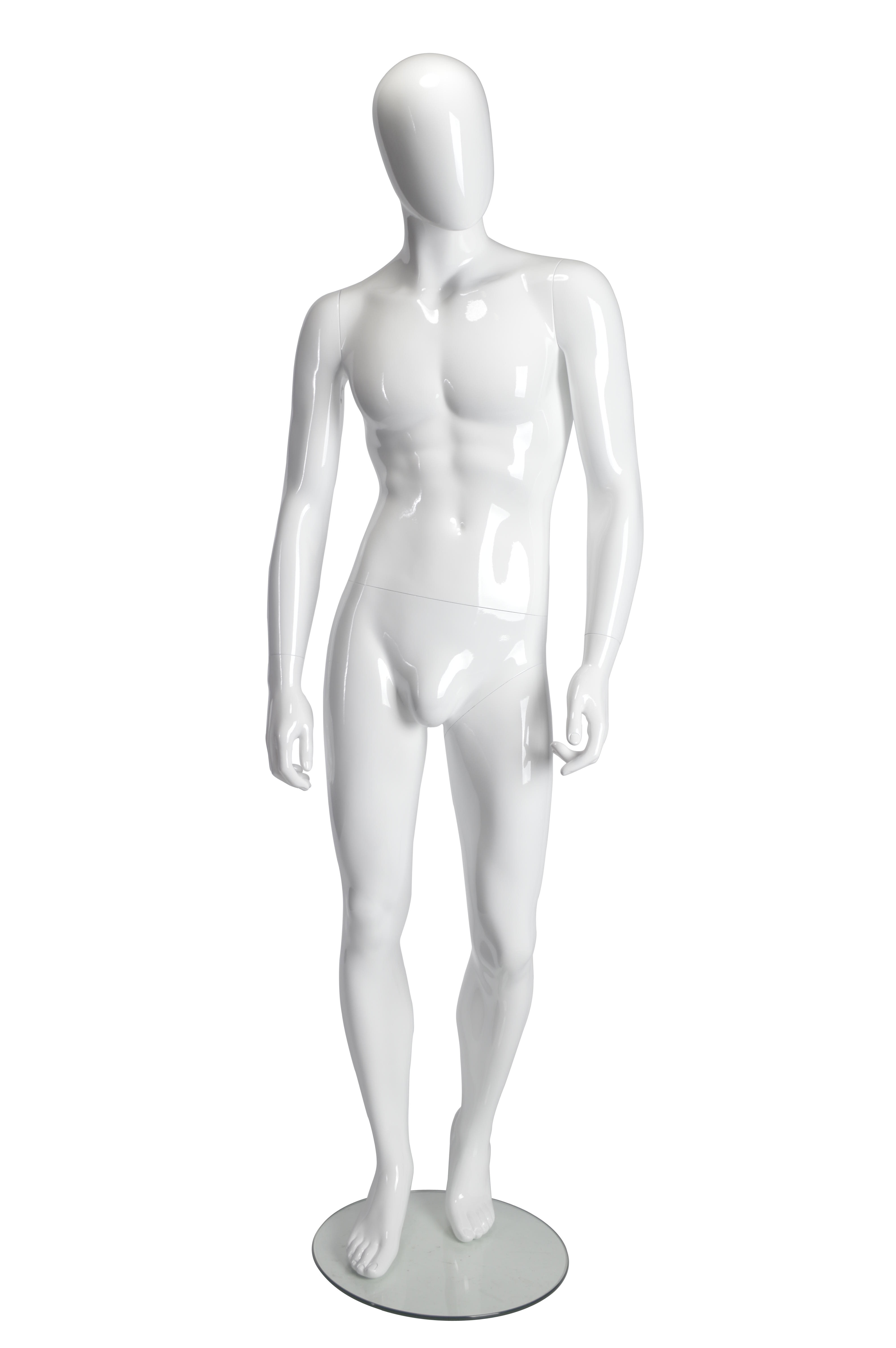 Male Mannequin - White Glossy