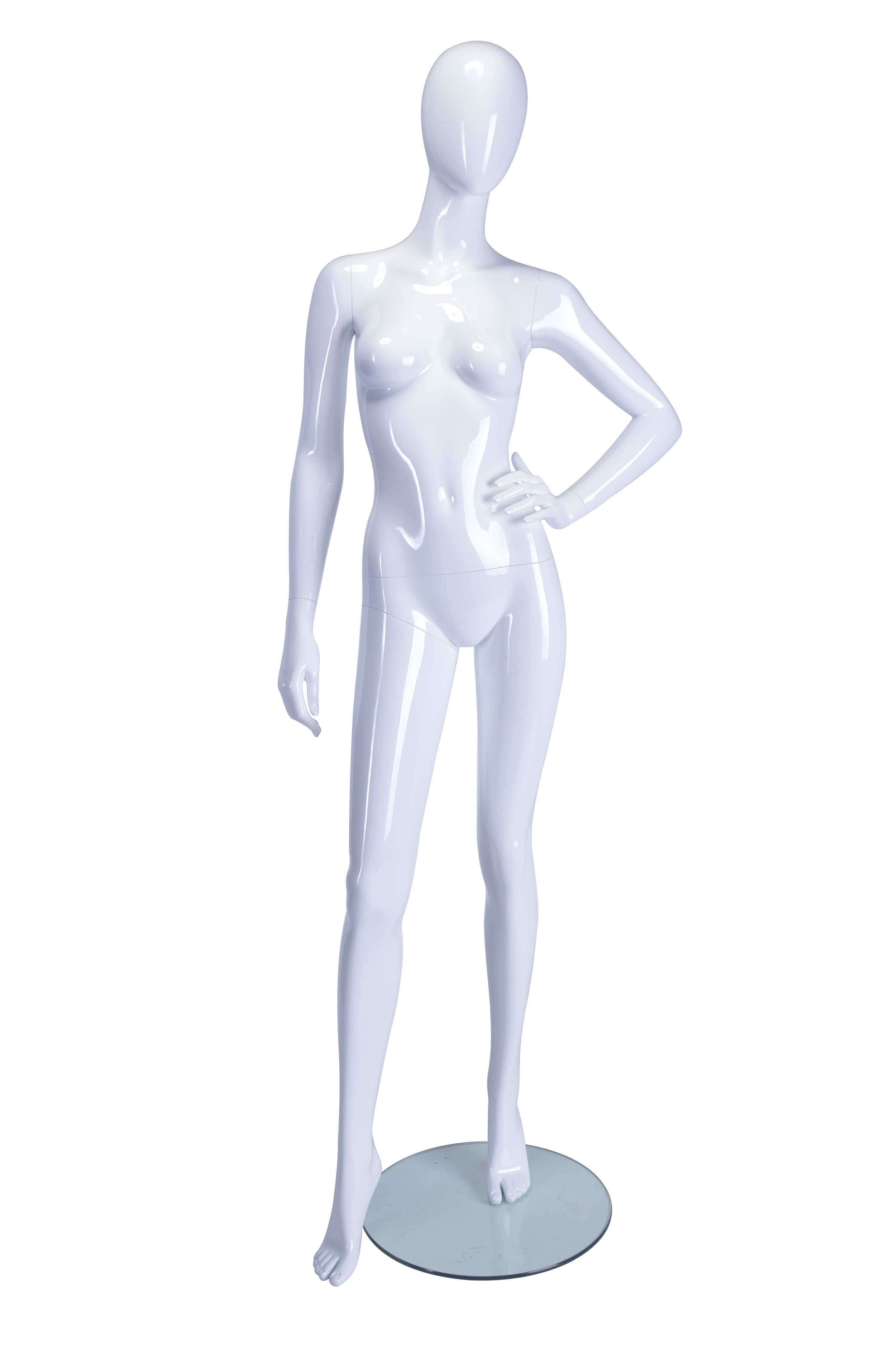 HB1002172 - Female Mannequin Hand on Left Hip - White Glossy