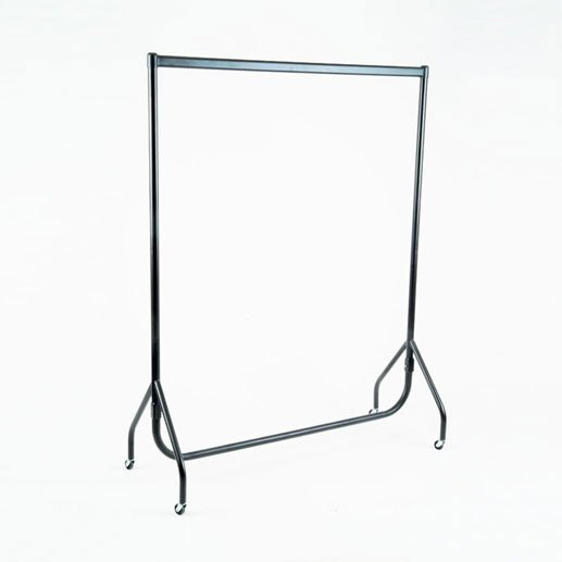 "HGR95-60B - 5FT Garment Rail - Black (60"")"